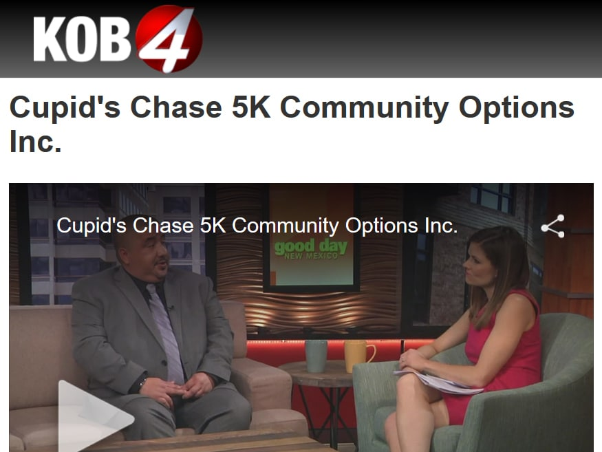 Good Day New Mexico - Cupid's Chase 5K Community Options Inc.