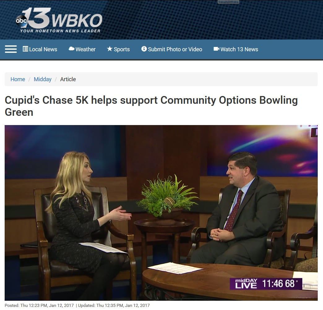 WBKO - Cupid's Chase 5K helps support Community Options Bowling Green