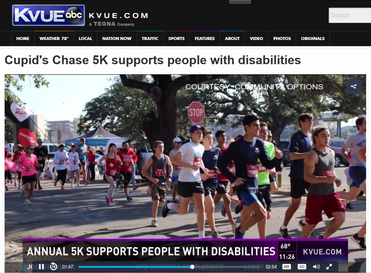 Cupid's Chase 5K supports people with disabilities