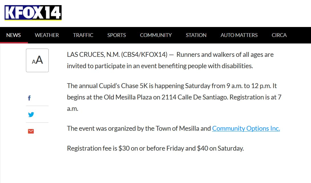Annual Cupid's Chase 5K set for Feb. 11