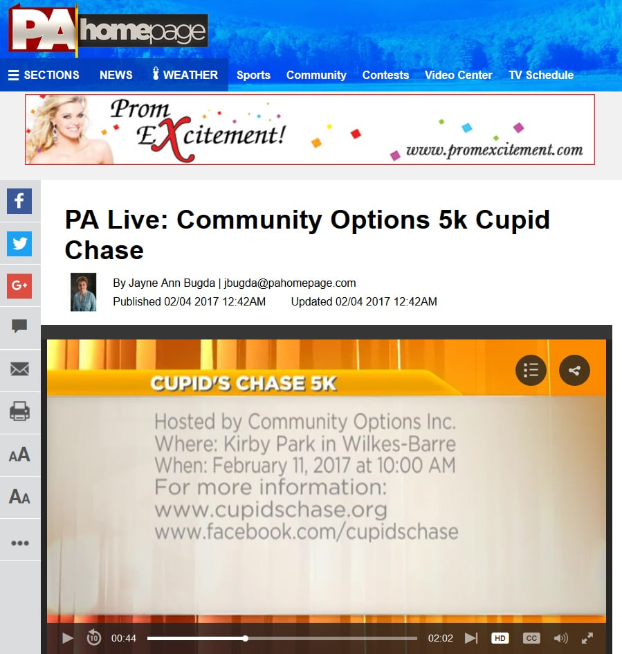 PA Live: Community Options 5k Cupid Chase