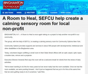 A Room to Heal, SEFCU help create a calming sensory room for local non-profit