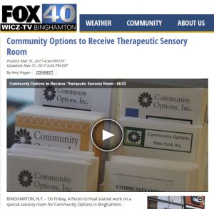 FOX 40 WICZ TV - Community Options to Receive Therapeutic Sensory Room