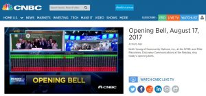 Keith Young of Community Options, Inc., at the NYSE, and Mike Massimino, Discovery Communications at the Nasdaq, ring today's opening bells.