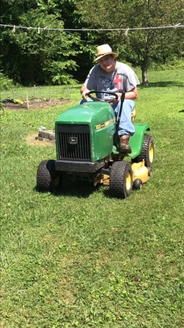 """""""I love to make money and see how good the yard looks after I've mowed the grass,"""" says Harmon."""