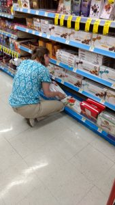 Kayla working in Walgreen's Retail Training Program