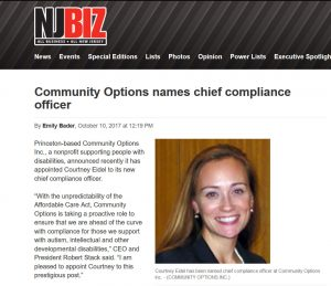 Community Options names chief compliance officer