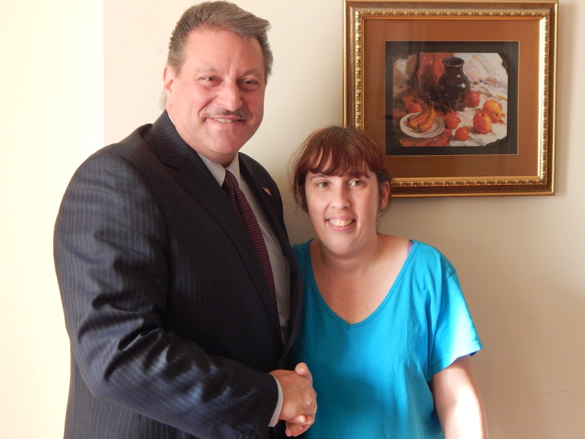 New York State Senator Joseph Addabbo Jr. spent the afternoon with Dawn.