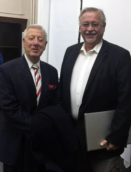 Bill Baldini and Dr. James Conroy