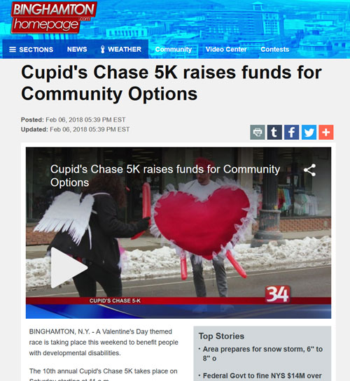 Cupid's Chase 5K raises funds for Community Options