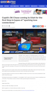 Shannon Wilkins joined Good Morning Utah to discuss the first-ever Cupid's Chase 5K in Salt Lake City.