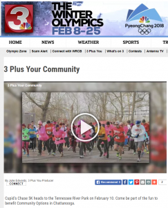 Daniel Bailey joins 3 Plus You to chat about the upcoming Cupid's Chase 5K in Chattanooga, TN.