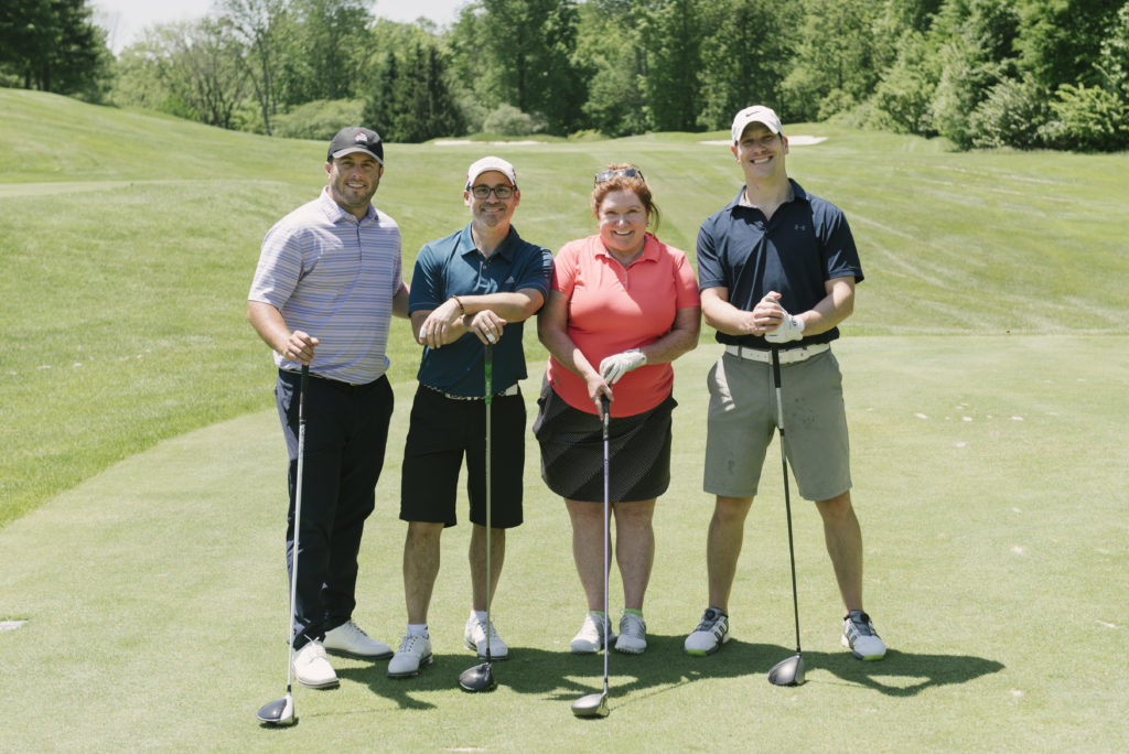 Foursome members, L to R: Brian Kelly, Keith Barrack, Gail Gordon & Noah Simon