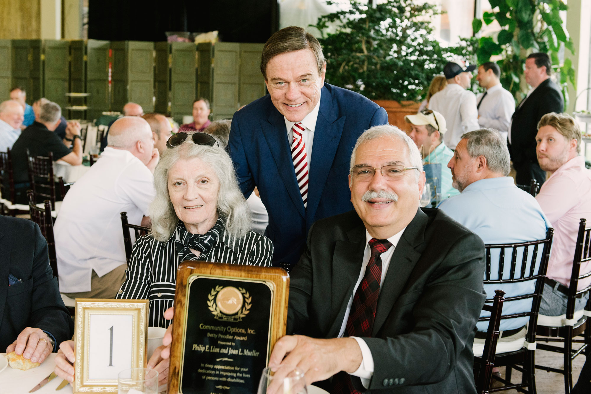 Phil Lian and Joan Mueller were honored during Community Options, Inc.'s spring iMatter Golf Classic at TPC Jasna Polana in Princeton, NJ. on May 21, 2018