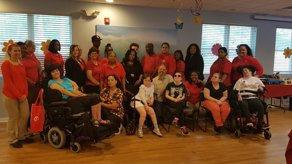 Employees and individuals of Community Options collaborated with employees of Voiceitt to implement their new speech app, Talkitt, into Red Ribbon Academy's daily program.