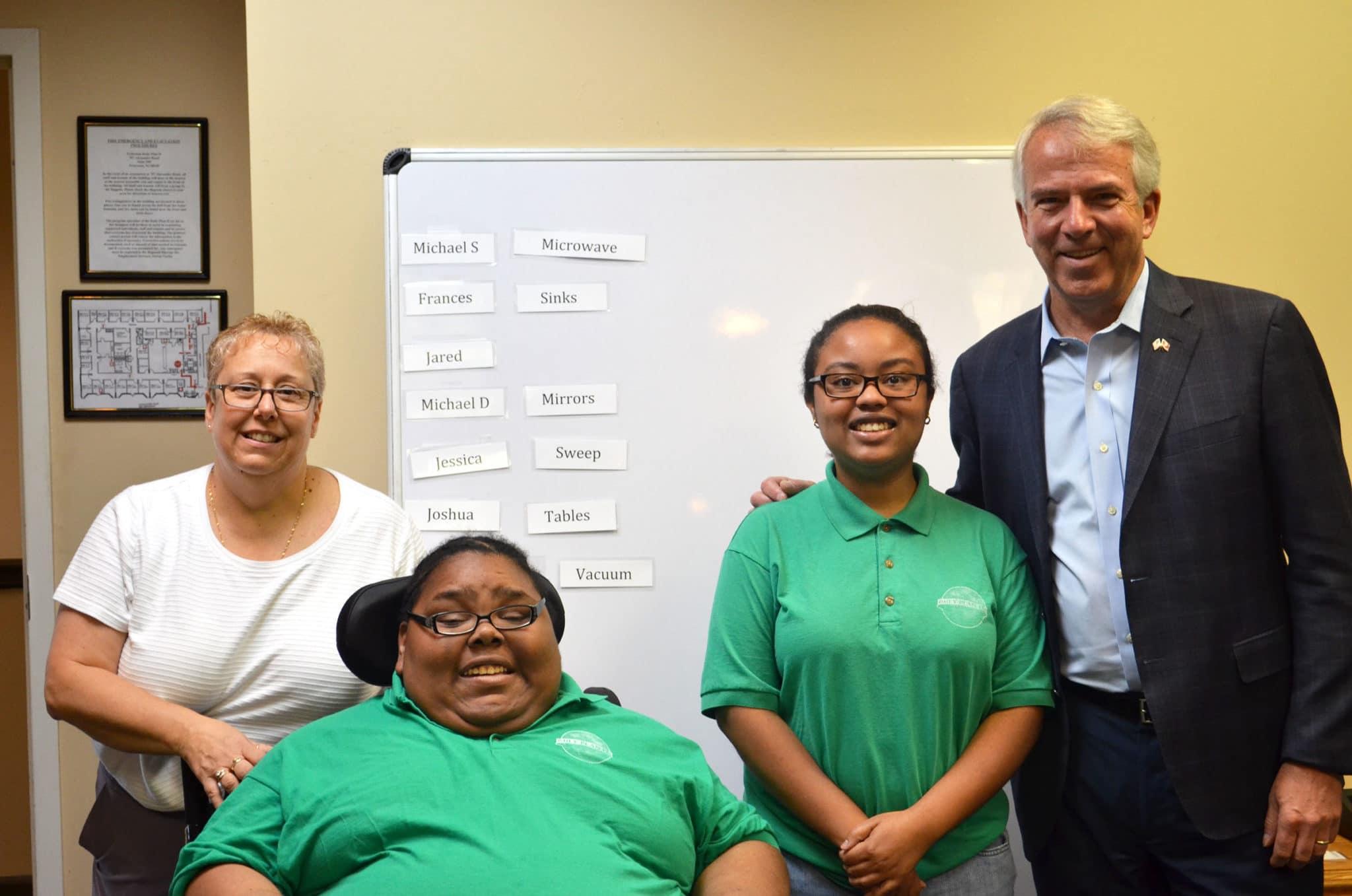 NJ Senatorial Nominee Bob Hugin Visits Community Options