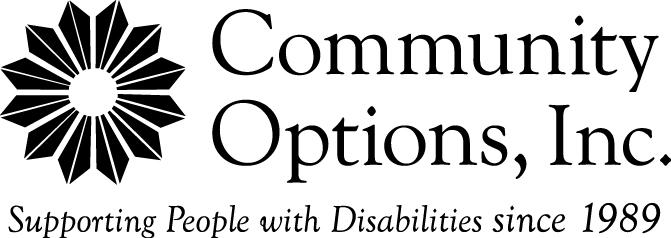 Community Options, Inc. Logo black/white