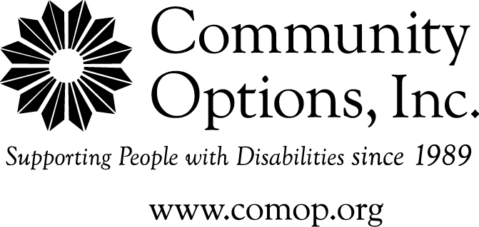Community Options, Inc. Supporting people with disabilities since 1989 www.comop.org logo