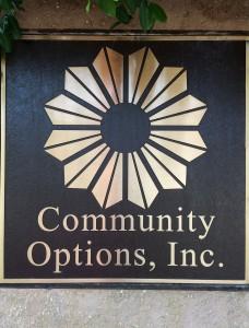 Community Options Inc Office Sign