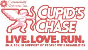 Cupid's Chase Logo Live Love Run In Support Of People With Disabilities