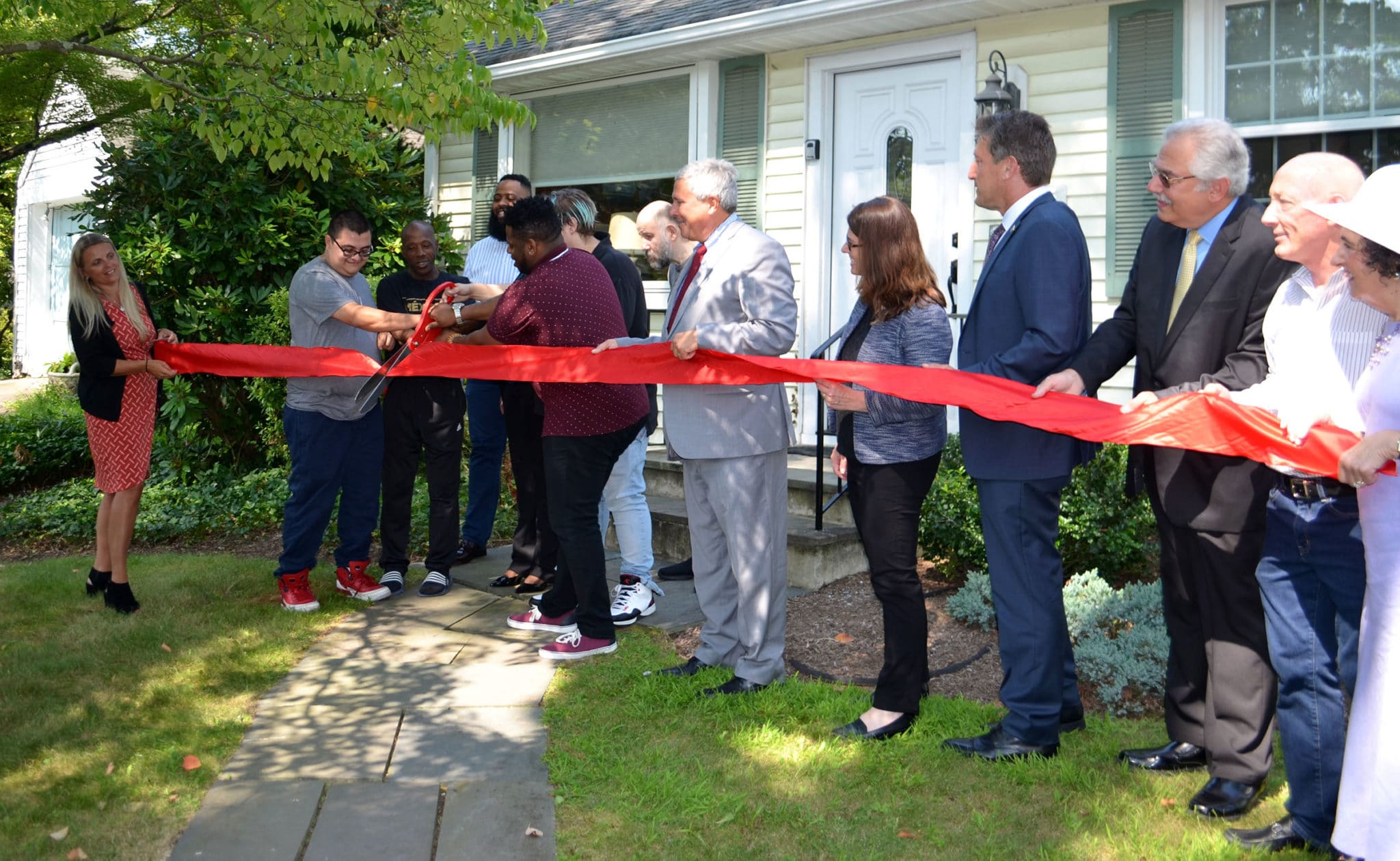 Community Options, Inc. of Mercer County celebrated the grand opening of a new home in Princeton, NJ with a ribbon cutting ceremony at 11 a.m.. Senator Kip Bateman, Assemblyman Andrew Zwicker, Mayor Liz Lempert and members of the Princeton Council as well as Board Members- Phyllis L. Marchand, Phil Lian, James Spano, were in attendance.