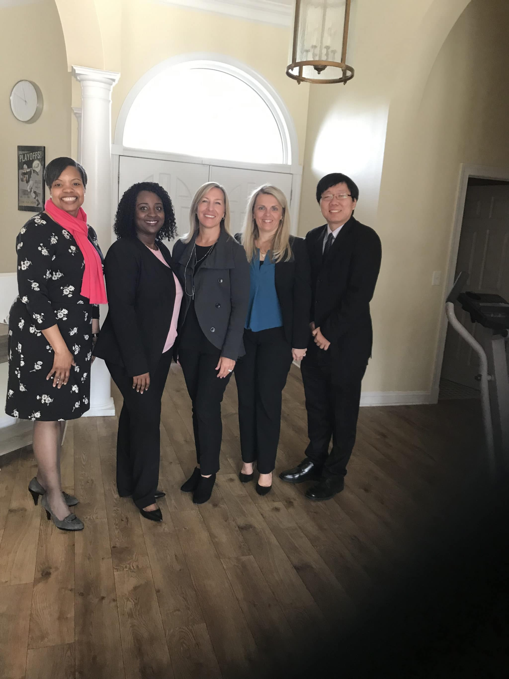 Christine Norbut Beyer, Commissioner of the New Jersey Department of Children and Families, met with executive leadership at one of our homes in New Jersey. Pictured from left to right: Nancy Ward, Program Director; Ida Bormentar, Executive Director; Christine Norbut Beyer, M.S.W.; Commissioner of the New Jersey Department of Children and Families; Svetlana Repic-Qira, Executive Vice President; Andrew Park, Managing Director of Marketing.