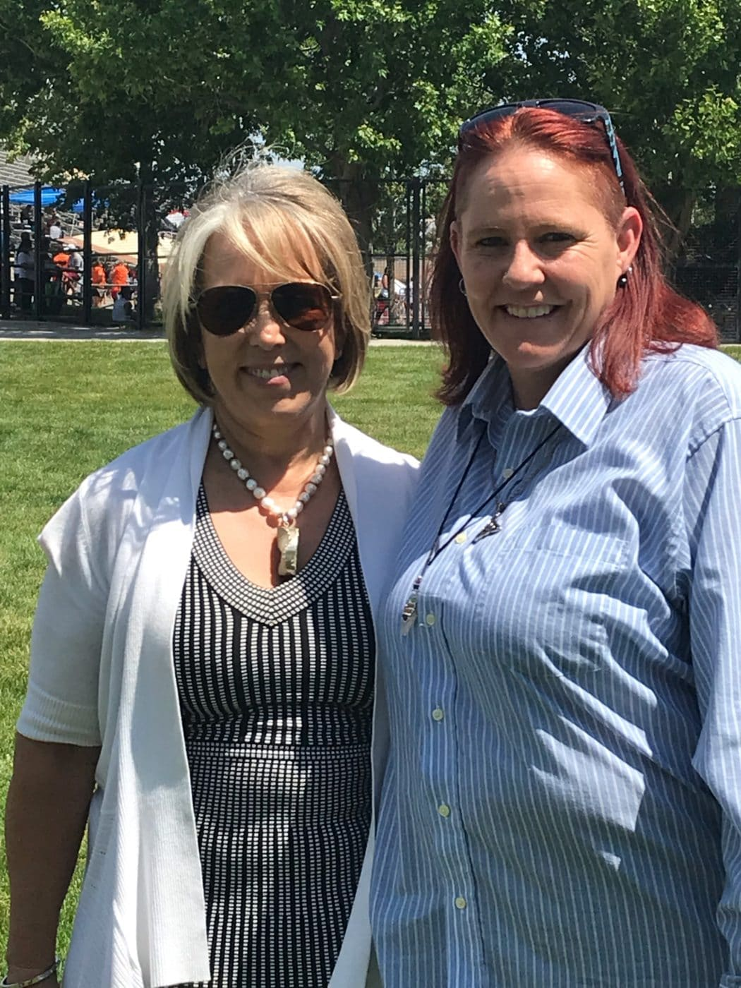 Kaydee Conticelli, Executive Director for Community Options, met with Michelle Lujan Grisham, Governor of New Mexico, to talk about the reduction of the waiting list for people with developmental disabilities in that state.
