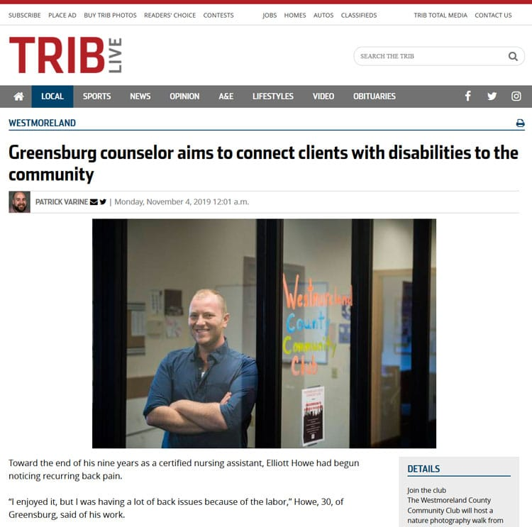 Greensburg counselor aims to connect clients with disabilities to the community