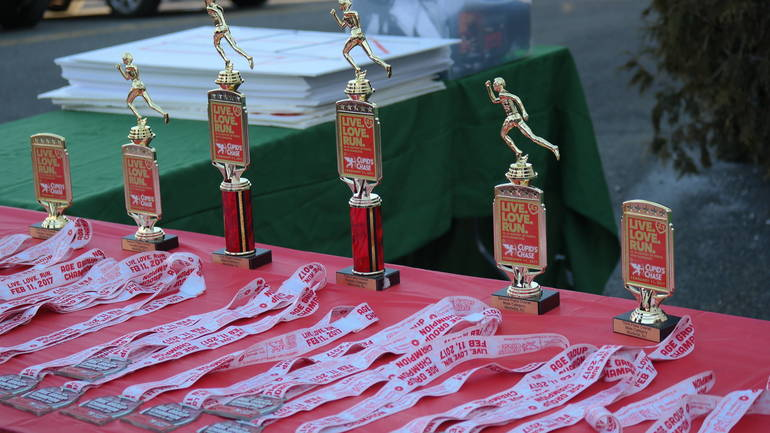 Cupids Chase Awards Medal Table