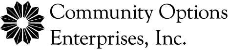 Community Options Enterprises, Inc. Logo black/white