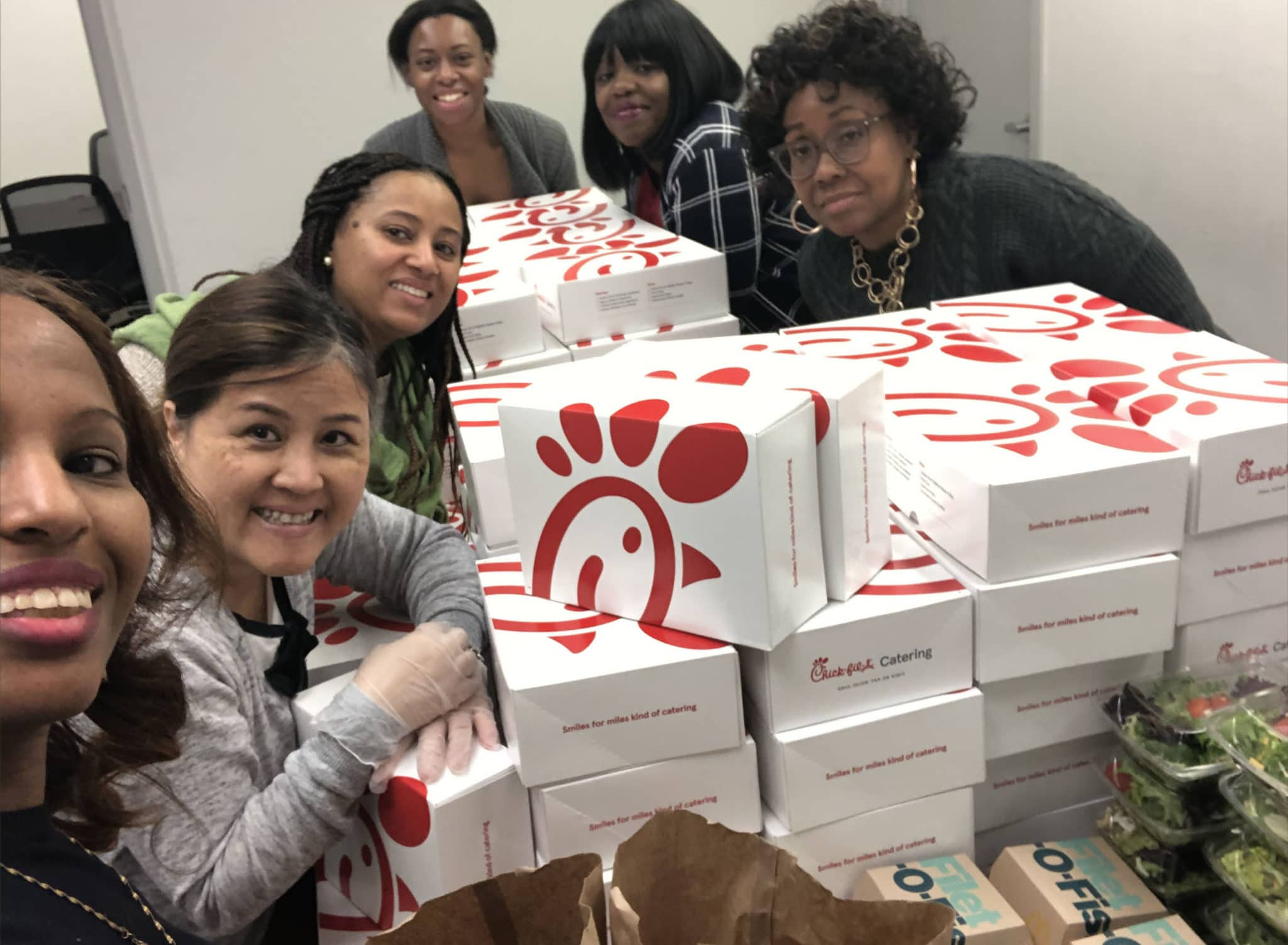United Healthcare donated Chick Fila in Frederick, Maryland