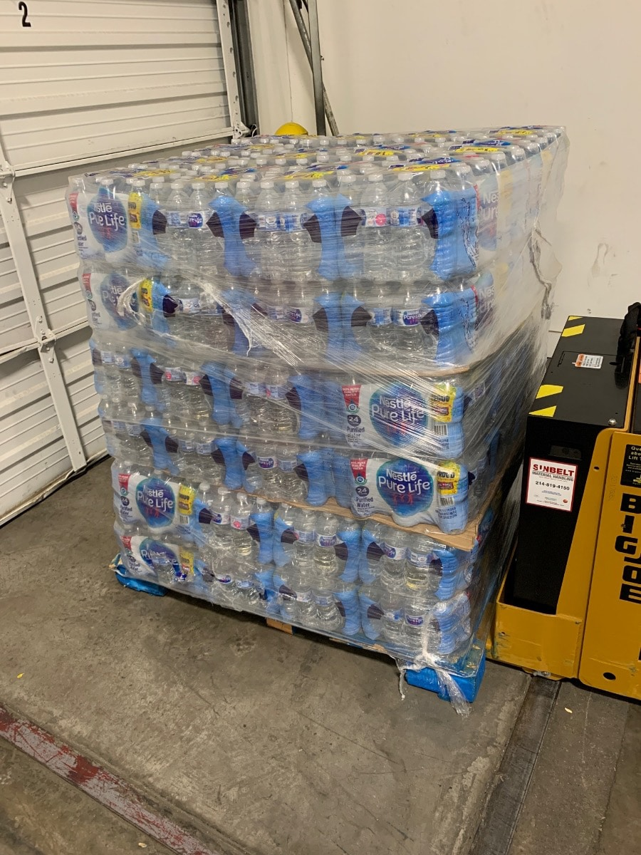 Children's Hunger Fund donated water in Dallas