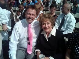 President & CEO of Community Options, Robert Stack, with Elizabeth Dole, U.S. senator, Red Cross CEO and wife of Senator Bob Dole.