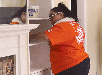 Staff from the West Windsor Home Depot store renovated a Community Options group home in Ewing.