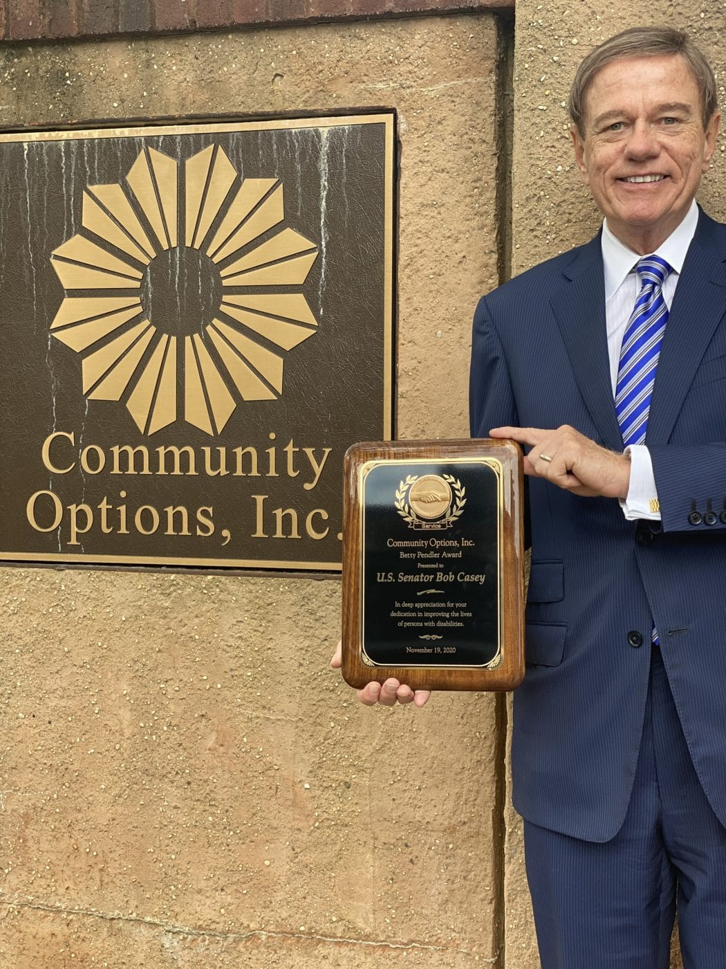 Robert Stack President And CEO Of Community Options Holding Betty Pendler Award