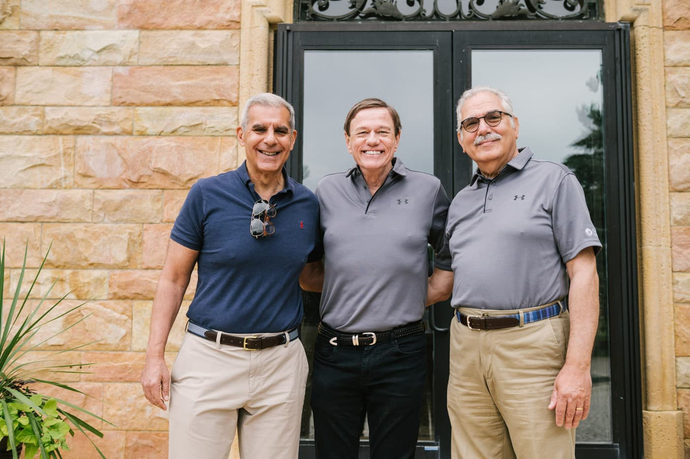 Community Options' President & CEO, Robert Stack, with Senator Joe Kyrillos and Community Options Enterprises' Chairman, Philip Lian, at the annual iMatter Spring Golf Classic in support of people with disabilities.