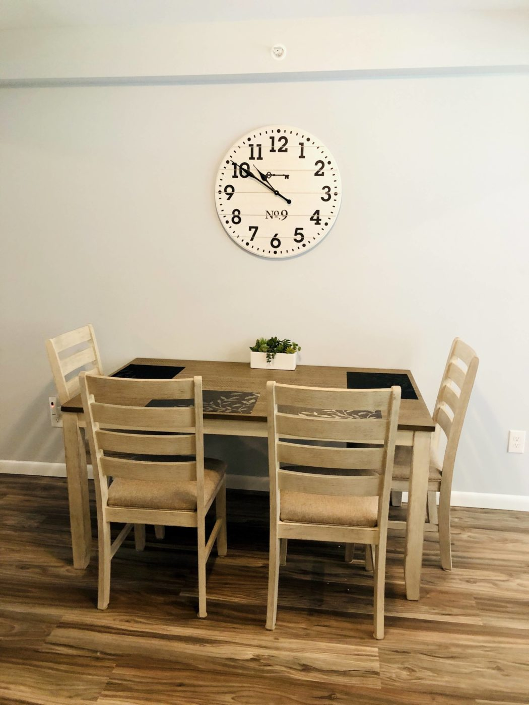 A family space for meals creates a sense of home.