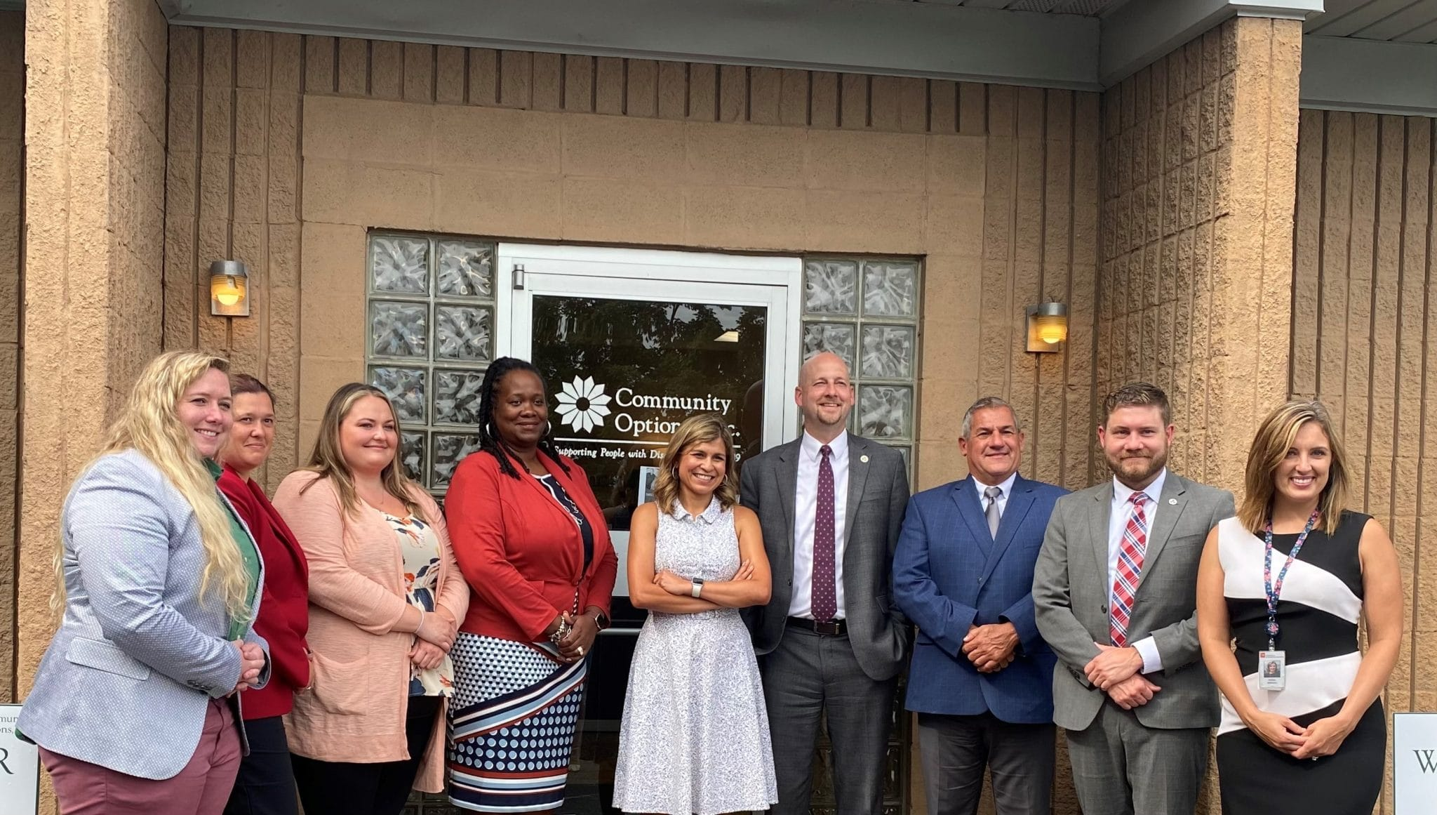 DIDD Commissioner Brad Turner pictured with Community Options' Tennessee leadership.