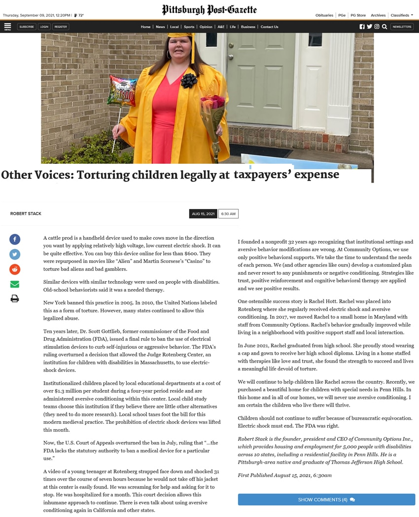 post-gazette.com - Other Voices: Torturing children legally at taxpayers' expense