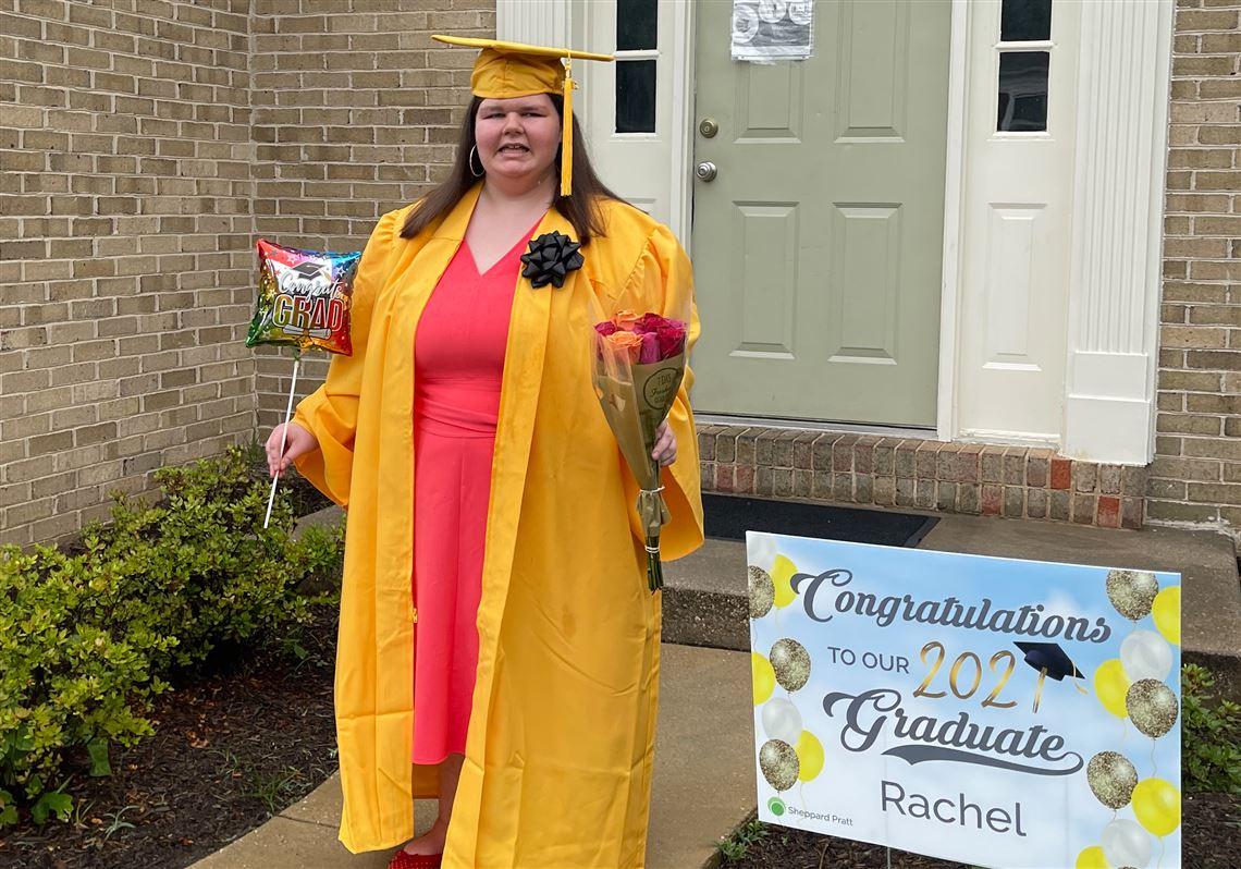 Rachel Hott in her cap and gown